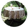 Tree Stamp Tablecloth